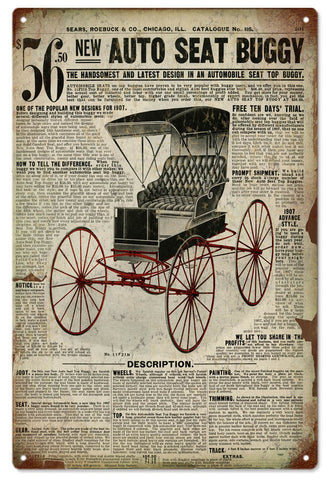 Vintage Sears Catalog Buggy Sign