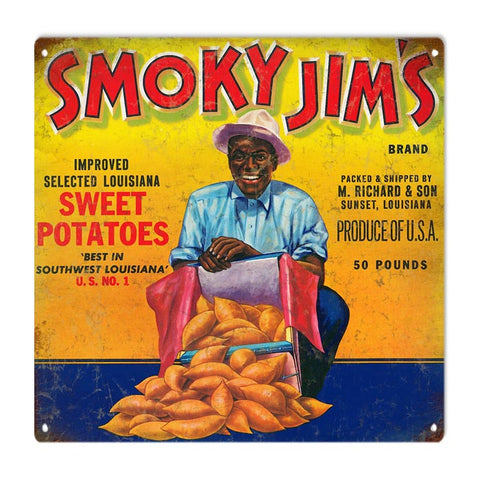 Vintage Sweet Potatoes Sign 12x12