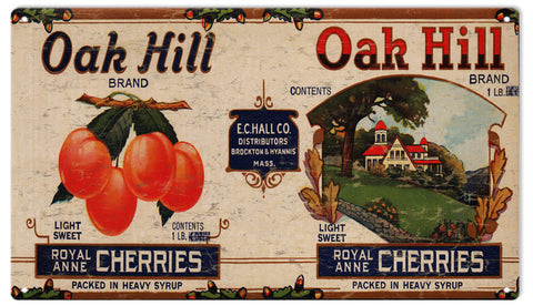 Vintage Oak Hill Cherries Sign