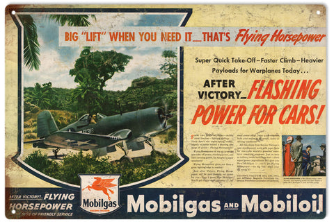 Vintage Mobilgas And Mobiloil Sign