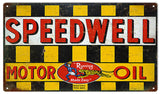 Vintage Speedwell Motor Oil sign 8x14
