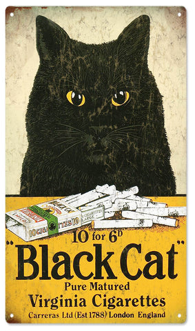 Vintage Black Cat Cigarette Sign