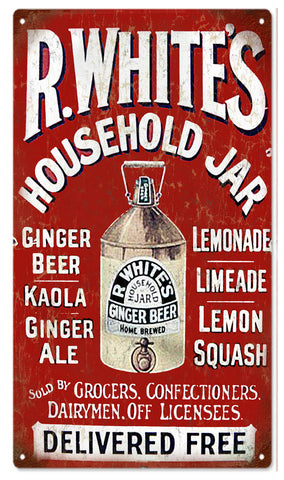 Vintage RWhites Ginger Beer Sign