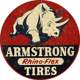 Vintage Armstrong Tire Sign 14 Round