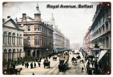 Vintage Royal Avenue Belfast City Sign