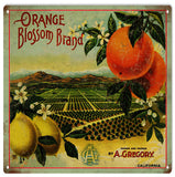 Vintage Orange Blossom Brand Sign 12x12
