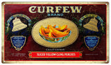 Vintage Curfew Brand Peaches Sign