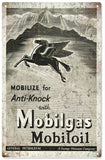 Vintage Mobilgas Gas Station Sign 8x14
