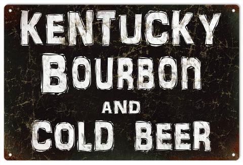 Vintage Kentucky Bourbon Bar Sign 8x14