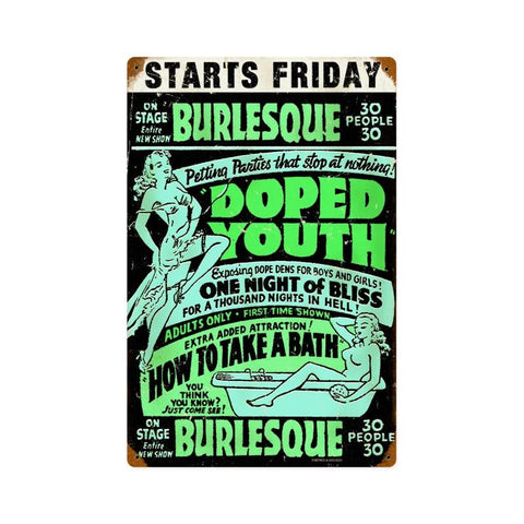 Doped Youth Metal Sign Wall Decor 12 x 18