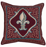 Pillow - Fleur De Lis - Red Pillow