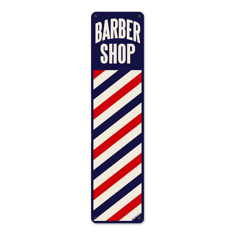 Barber Shop Metal Sign Wall Decor 20 x 5