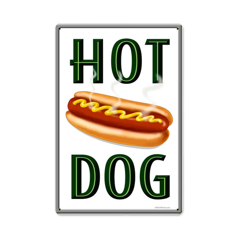Hot Dogs Metal Sign Wall Decor 12 x 18