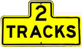 RR-18Y 2 Track Railroad Sign in Yellow