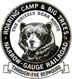 RR-225 ROARING CAMP GRIZZLY RAILROAD SIGN