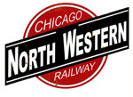RR-234 CHICAGO NORTH WESTERN HERALD SIGN