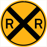 Railroad Xing Sign 18x18 Round