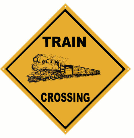 Train Crossing Sign 12x12