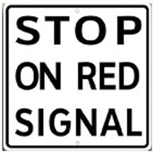 RR-53 Stop On Red Signal Railroad Sign