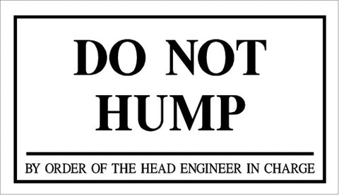 RR-54 Do Not Hump Railroad Sign