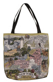 State Of New York Tapestry Tote