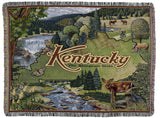 State Of Kentucky (Horizontal) Tapestry Throw