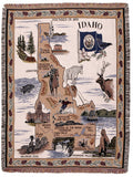 State Of Idaho Tapestry Throw