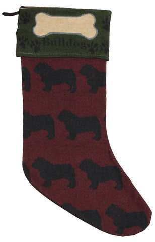 Tapestry Stocking Bull Dog