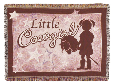 Little Cowgirl Tapestry Throw (Mini)