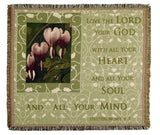 Love The Lord Tapestry Throw