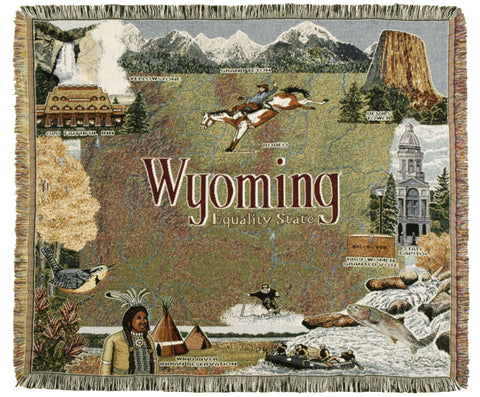 Tapestry - State Of Wyoming Throw