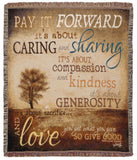 Pay It Forward Tapestry Throw