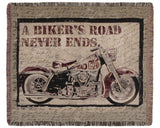 Tapestry - A Biker'S Road Throw