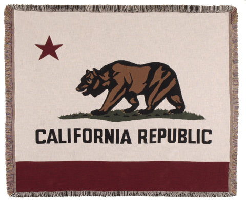 Flag Of California Tapestry Throw