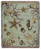 Ocean Life Tapestry Throw
