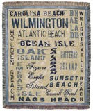 Nc Shores 50 X 60 Tapestry Throw
