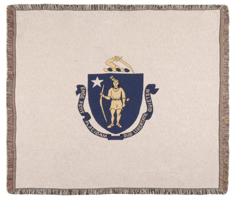 Flag Of Massachusetts Tapestry Throw