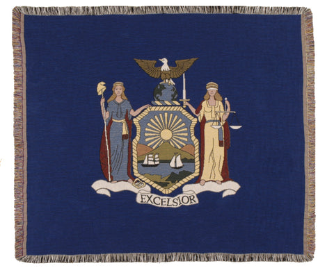 Flag Of New York Tapestry Throw