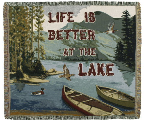 Life Is Better 50 X 60 Tapestry Throw