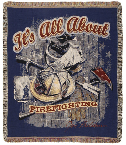 All About Firefighting Tapestry 50 X 60
