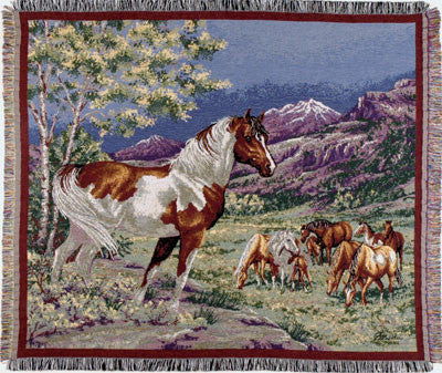 Tapestry - Mustangs Throw