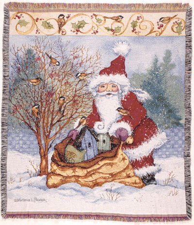 Tapestry - Christmas Chidkadee Joy Throw