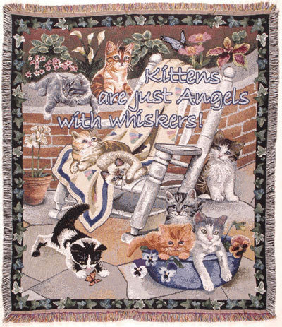 Tapestry - Kittens Are Throw