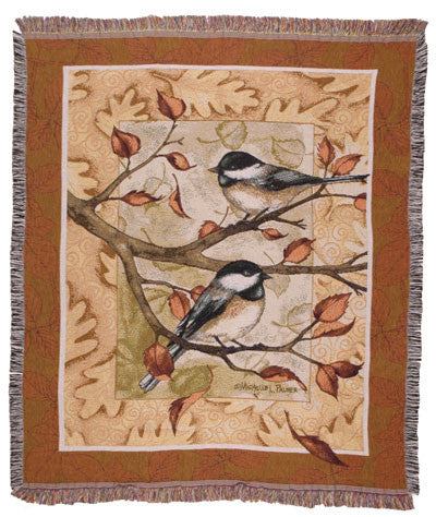 Tapestry - Autumn Chickadee Throw