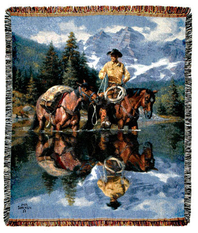 Tapestry - Reflections Of The Rockies Throw