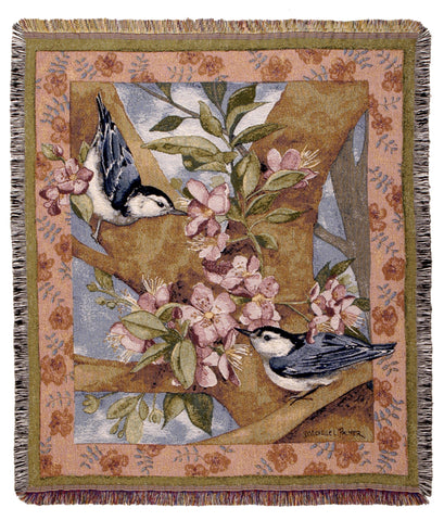 Tapestry - Nuthatch Spring Throw