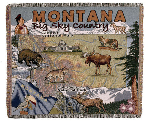 Tapestry - State Of Montana Throw