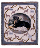 Rottweiler Tapestry Throw (Tpm923)