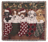 Tapestry - Christmas Puppies Throw