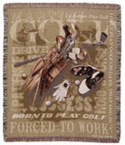 Born To Golf Tapestry Throw